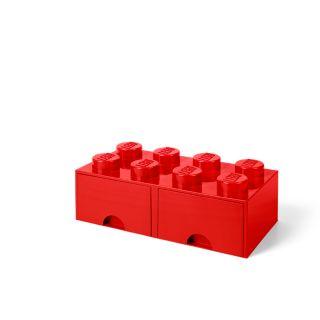 LEGO® 8-stud Bright Red Storage Brick Drawer