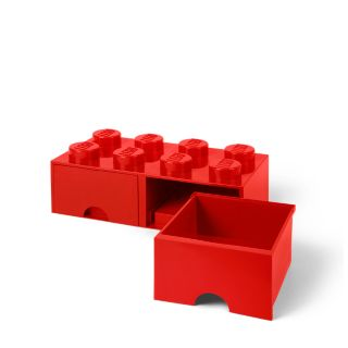 LEGO® 8-stud Bright Red Storage Brick Drawer