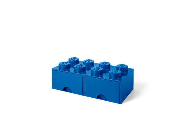 Have fun storing your toys, LEGO® bricks, office supplies and more with this fun, stackable LEGO Storage Brick Drawer, featuring 2 compartments and 8 oversized LEGO studs.