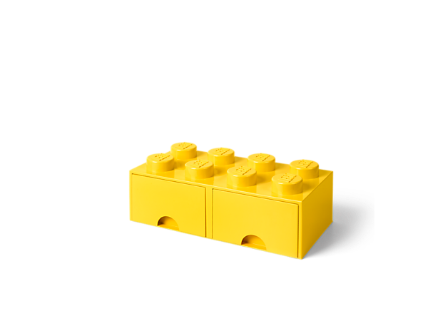 Have fun storing your toys, LEGO® bricks, office supplies and more with this fun, stackable LEGO Storage Brick Drawer, featuring 8 oversized LEGO studs and 2 drawers.