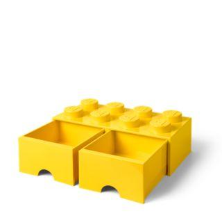 LEGO® 8-stud Bright Yellow Storage Brick Drawer