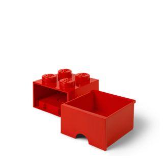 LEGO® 4-stud Bright Red Storage Brick Drawer