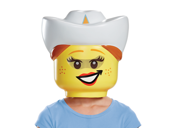 Saddle up for role-play fun with this fun LEGO® Cowgirl Mask, featuring a visibility mesh and an elastic band with Velcro closure for a perfect fit.