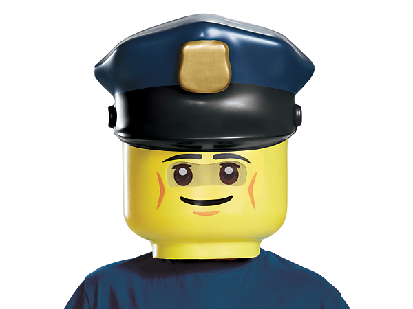 Maintain law and order with this fun LEGO® Police Officer Mask, featuring a visibility mesh and an elastic band with Velcro closure for a perfect fit.