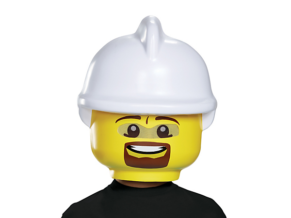 Play the hero with this fun LEGO® Firefighter Mask, featuring a visibility mesh and an elastic band with Velcro closure for a perfect fit.