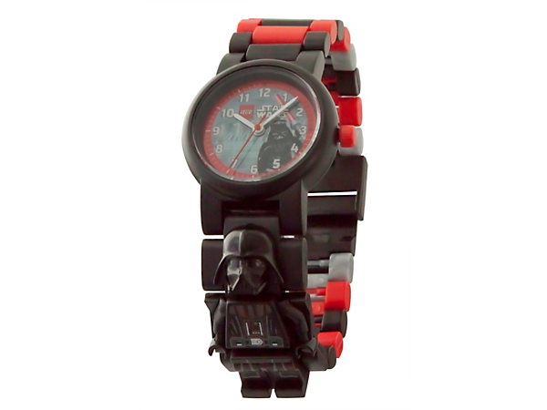 Enemies of the Sith beware of this LEGO® Star Wars Darth Vader Minifigure Link Watch, featuring a buildable strap with multicolored, interchangeable links and a sculpted Darth Vader minifigure.