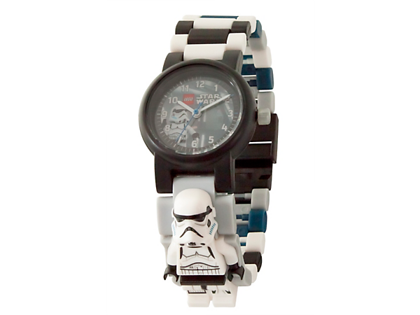 Always be on time for action with this LEGO® Star Wars Stormtrooper Minifigure Link Watch, featuring a buildable strap with multicolored, interchangeable links and a sculpted Stormtrooper minifigure.