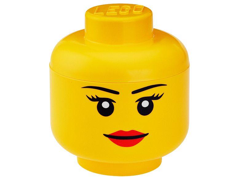 Rangement en forme de tête de fille LEGO® - Petit