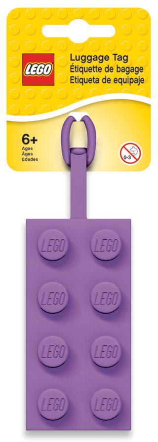 LEGO® 2x4 Lavender Luggage Tag