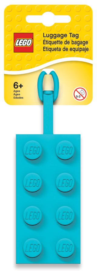 LEGO® 2x4 Azure Luggage Tag