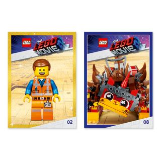 THE LEGO® MOVIE 2™ maināmo kartīšu komplekti BEZ MAKSAS!*