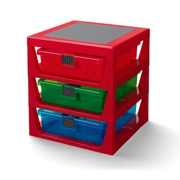 Transparent Red LEGO® Rack System