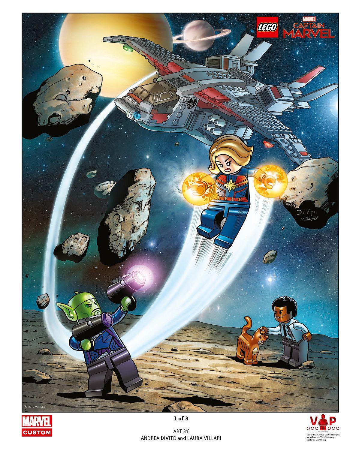 LEGO® Captain Marvel Art Print 1 of 3