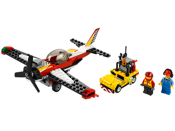 Fill up the Stunt Plane featuring a big engine, propeller and opening cockpit, plus an Octan™ truck with lots of tools and accessories!