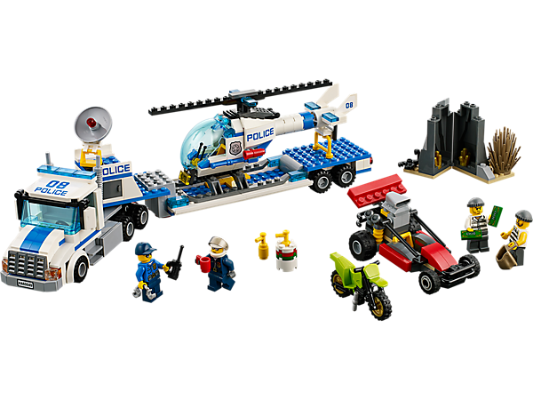Explore product details and fan reviews for buildable toy Helicopter Transporter 60049 from City Police. Buy today with The Official LEGO® Shop Guarantee.