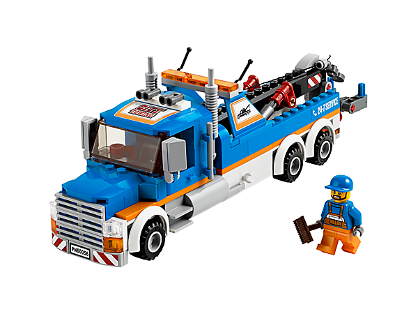 Keep the traffic moving with the LEGO® City Tow Truck with moving crane arm, working winch, grab function, driver minifigure and accessories!