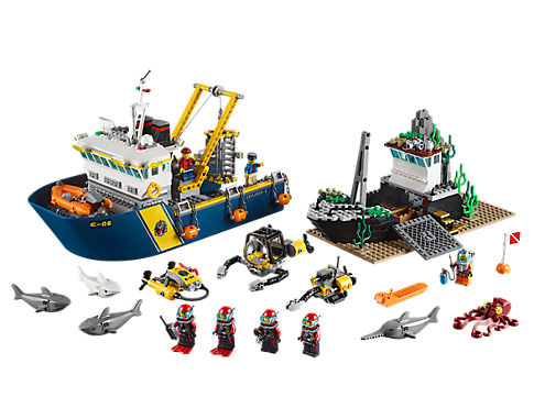 deep sea exploration vessel 60095 city lego shop - Lego City Bateau