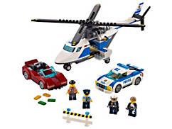 La course-poursuite en hélicoptère
