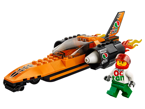 Start the high-powered engine of the LEGO® City Speed Record Car and get ready to enter the record books, featuring an opening cockpit and a driver minifigure.