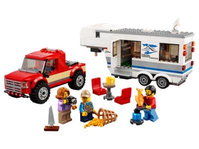 Le pick-up et sa caravane