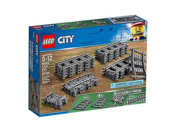pack de rails 60205 city lego shop. Black Bedroom Furniture Sets. Home Design Ideas