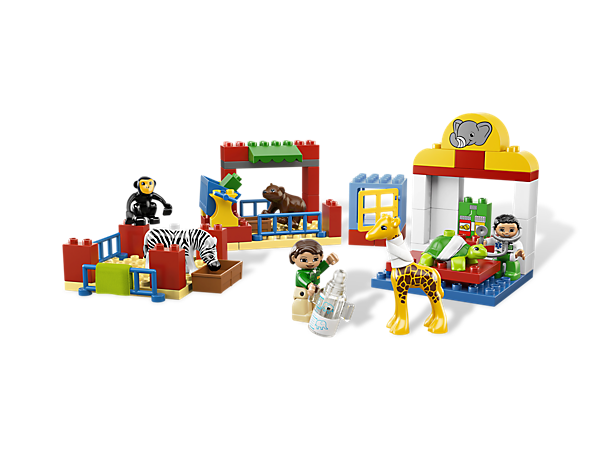 Bring the baby animals to the LEGO® DUPLO® Animal Clinic and make them better again with busy vets and lots of cute accessories!