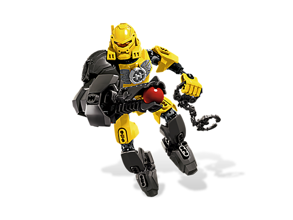Use EVO's plasma shooter, anti-toxic power boots and tank arm to recapture the villains that have broken out of the Hero Factory!