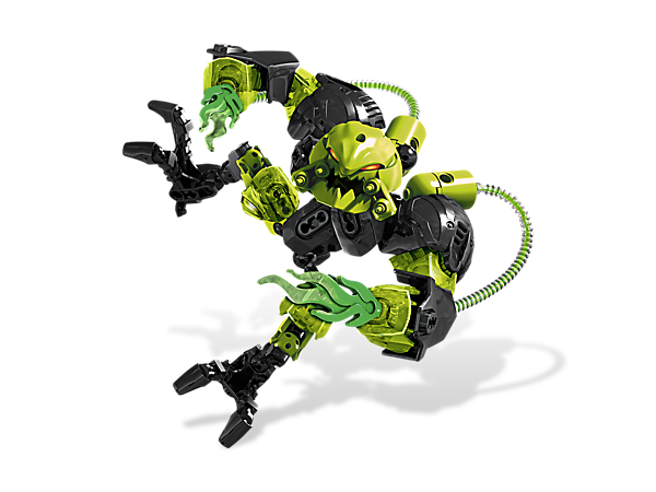 Battle against TOXIC REAPA's toxic tanks, toxic jets, crushing claws and laser cutters; then recapture him and return to the Hero Factory!