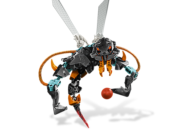 THORNRAXX has escaped to the hive planet and needs to be recaptured; watch out for his shooting venom spitter, razor claws and deadly stinger!