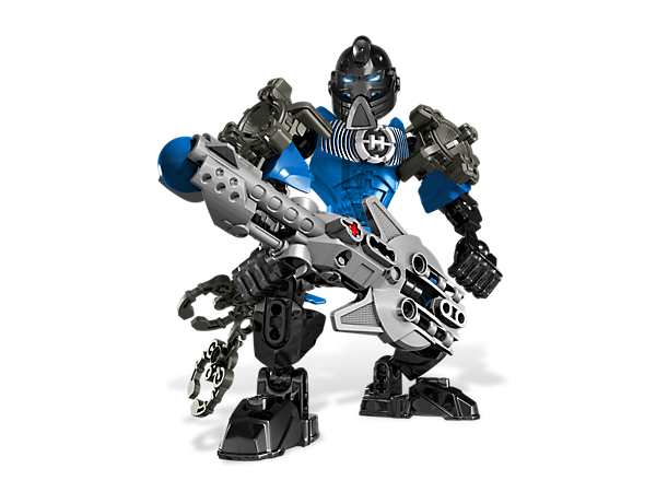 Suit up STRINGER to blast the villains back behind bars with his amplified armor, sonic speakers and sonic blaster!