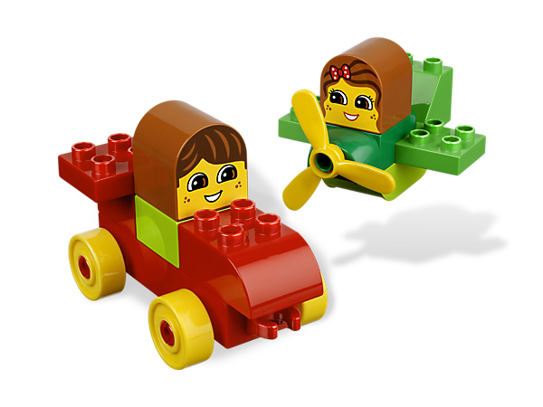Begin with a book and build with the LEGO DUPLO bricks as your child listens along to the newest Bricks & Books set with Let's Go! Vroom!