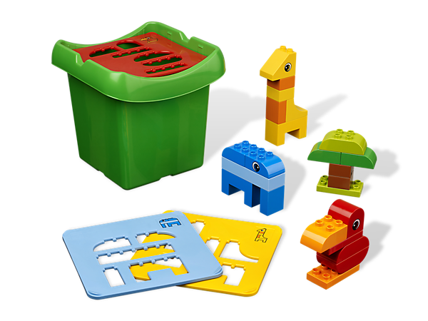 Teach stacking and sorting with a colorful assortment of big LEGO® DUPLO® bricks as your child learns to build basic animals!