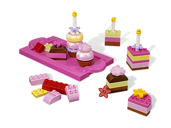 Bake up some LEGO® DUPLO® building fun with the Creative Cakes building set's pretty pastel pieces, perfect for tea parties!