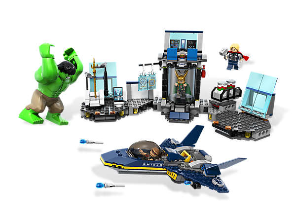 Help The Hulk and Thor use the launching fuel canisters to stop Loki from escaping!