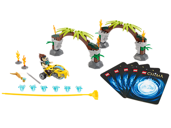 Speed through the Jungle Gates with Lennox in a Speedorz battle of timing and accuracy for 6 CHI, featuring 2 weapons and 5 game cards!