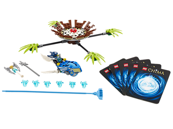 Fly into the treetop nest with Eglor in a Speedorz race for 6 CHI with 2 weapons and 5 game cards!