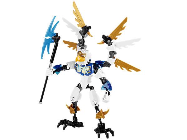 CHI-up to outsmart the other tribes with CHI Eris, a CHI-powered warrior featuring a CHI axe staff, eagle head, talons and more!