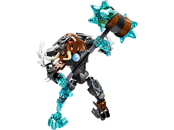 Freeze rivals with the posable LEGO® Legends of Chima™ CHI Mungus with huge buildable ice mallet, ice claws, playable CHI function and more.