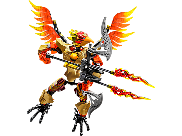 Swoop to conquer with the posable LEGO® Legends of Chima™ CHI Fluminox with shooting crossbow, movable wings, playable CHI function and more.
