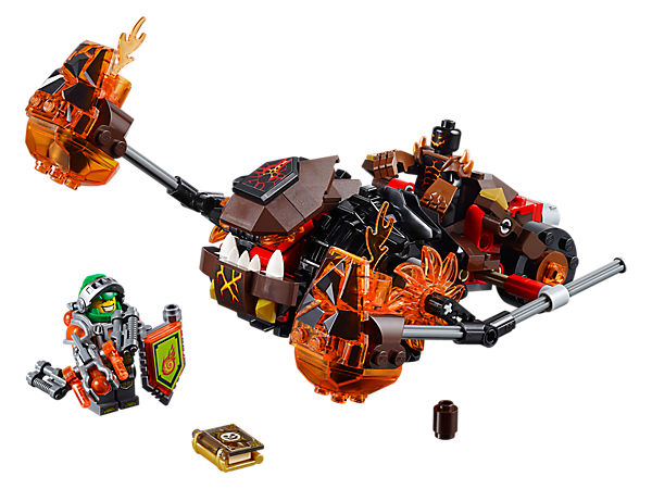 Explore product details and fan reviews for Moltor's Lava Smasher 70313 from LEGO® NEXO KNIGHTS™. Buy today with The Official LEGO® Shop Guarantee.