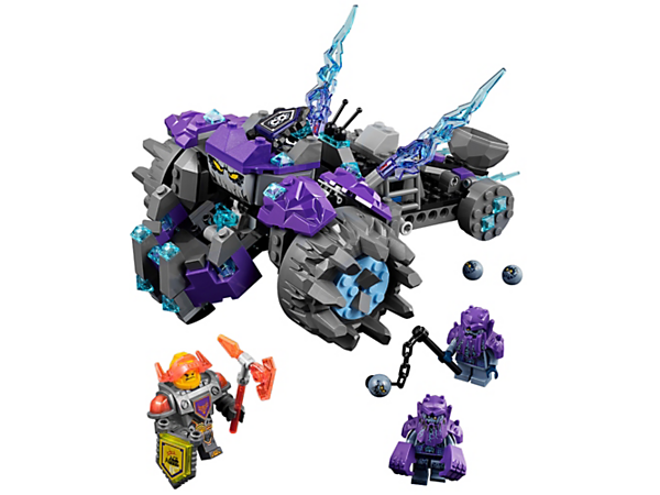 <p>Battle Axl and the three Stone monster brothers in their monster vehicle with giant face, chomping jaws and a firing catapult. Includes two scannable shields and three minifigures.</p>