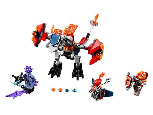 Get fired up with Macy's Bot Drop Dragon, featuring 2 movable wings with stud shooters, Macy Bot air-drop attack function and a weaponized tail. Includes 3 minifigures.