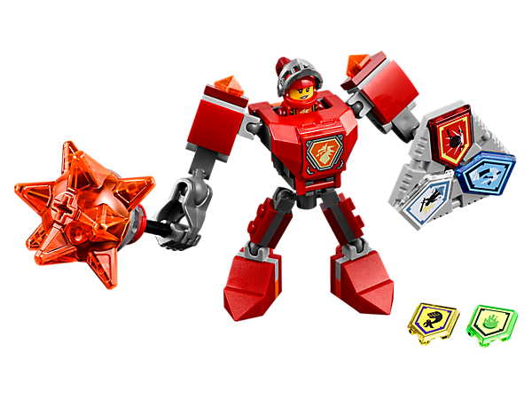 <p>Strengthen Macy's fighting skills with this buildable battle suit, super-sized mace, giant fist, Combo NEXO Power shield, five scannable shields and a Macy minifigure.</p>