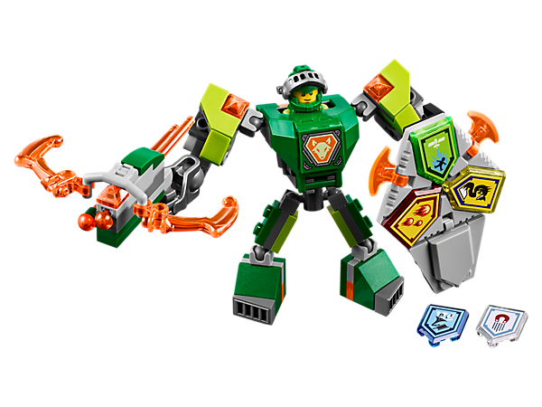 Give Aaron a cutting-edge upgrade with this buildable battle suit, Blazer Bow shooter, giant fist, Combo NEXO Power shield, five scannable shields and an Aaron minifigure.