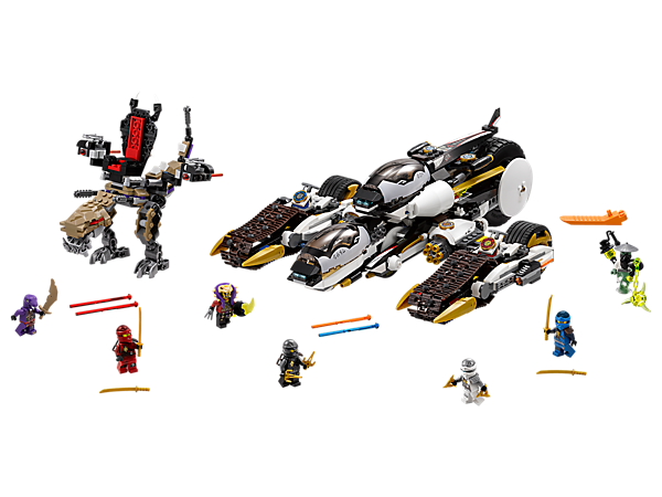 Ambush the Chenosaurus by splitting the 4-in-1 Ultra Stealth Raider to create a helijet, huge bike and 2 tread bikes. Includes 7 minifigures.