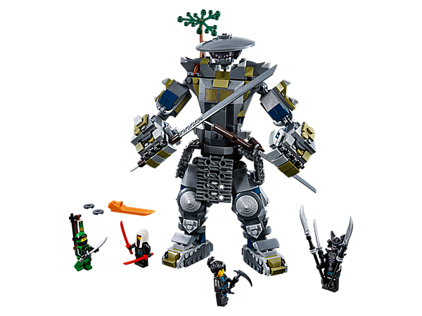 Team up with Lloyd and Nya to take on Lord Garmadon, Harumi and the highly posable LEGO® NINJAGO® Oni Titan, with disc shooters, gripping hands and huge katanas.