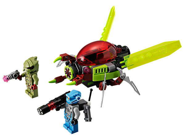 Dodge the Space Swarmer's grabber mouth with the jet pack then blast the alien buggoid before he fires his alien sonic gun!