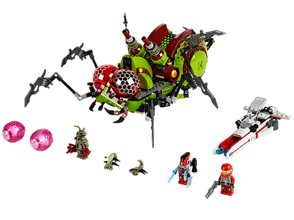 Help the Galaxy Squad to stop the alien mantizoid in the Hive Crawler with moving legs, egg launcher, laser guns and a pinching mouth!