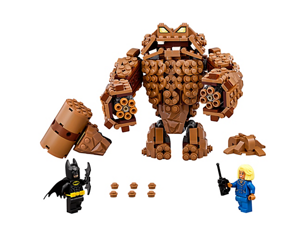 Evade Clayface's six-stud shooters and clay hammer and help Batman™ to save Mayor McCaskill from the clay prison in Clayface Splat Attack. Includes two minifigures.