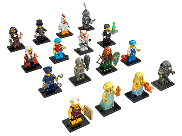 Get your hands on the exciting Series 9 minifigure mystery bags featuring 16 all-new characters and accessories to trade and collect!!